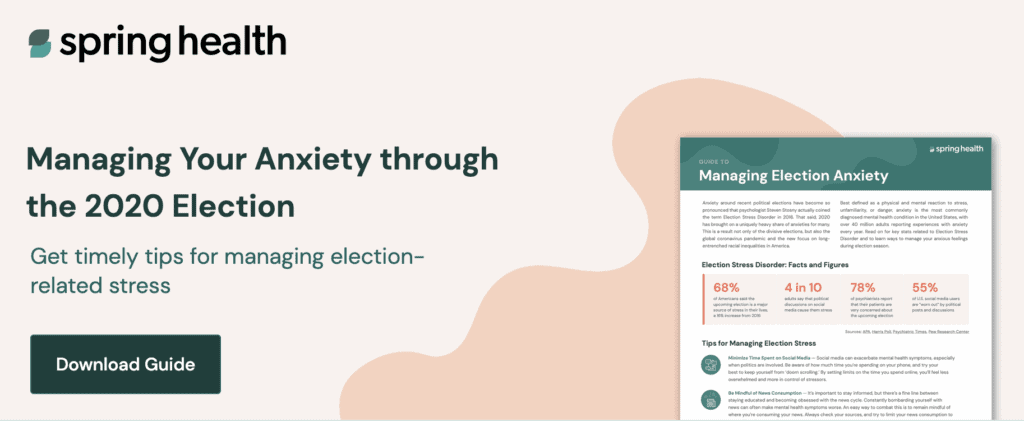 manage election anxiety