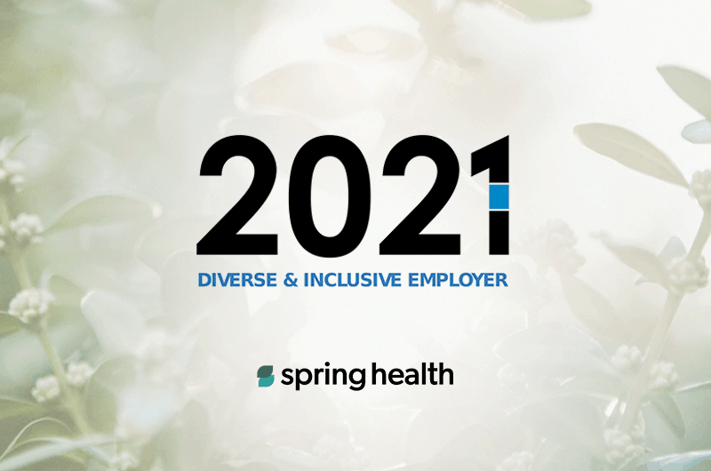 Spring Health Receives The Startup Weekly's 2021 Diverse & Inclusive Employer Award